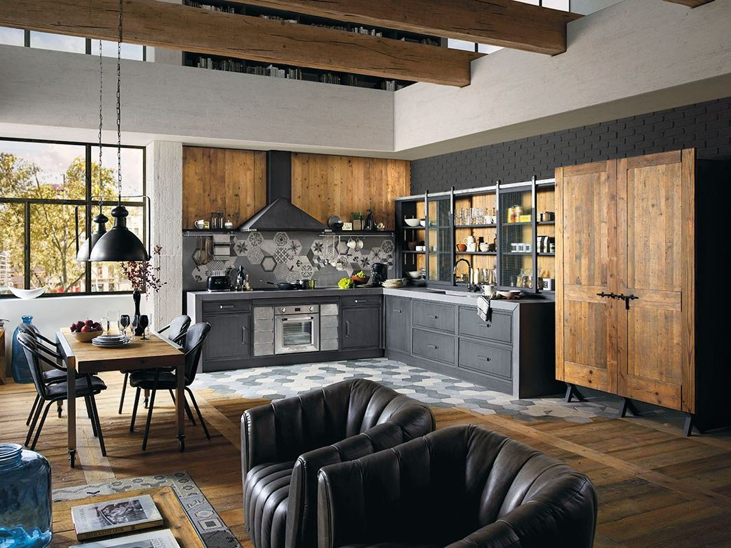 einbauk che aus holz brera 76 by marchi cucine. Black Bedroom Furniture Sets. Home Design Ideas