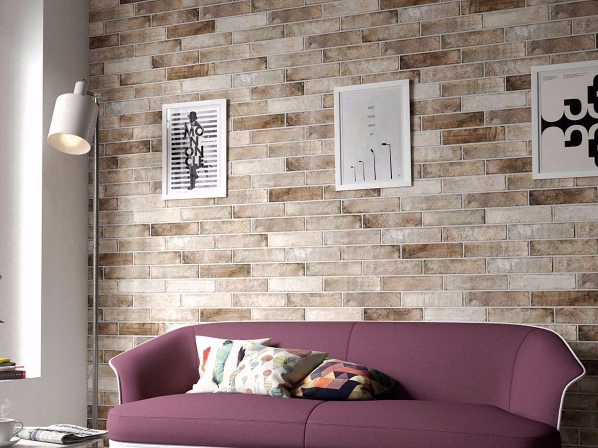 Brick Wall Floor Tiles By Equipe Ceramicas
