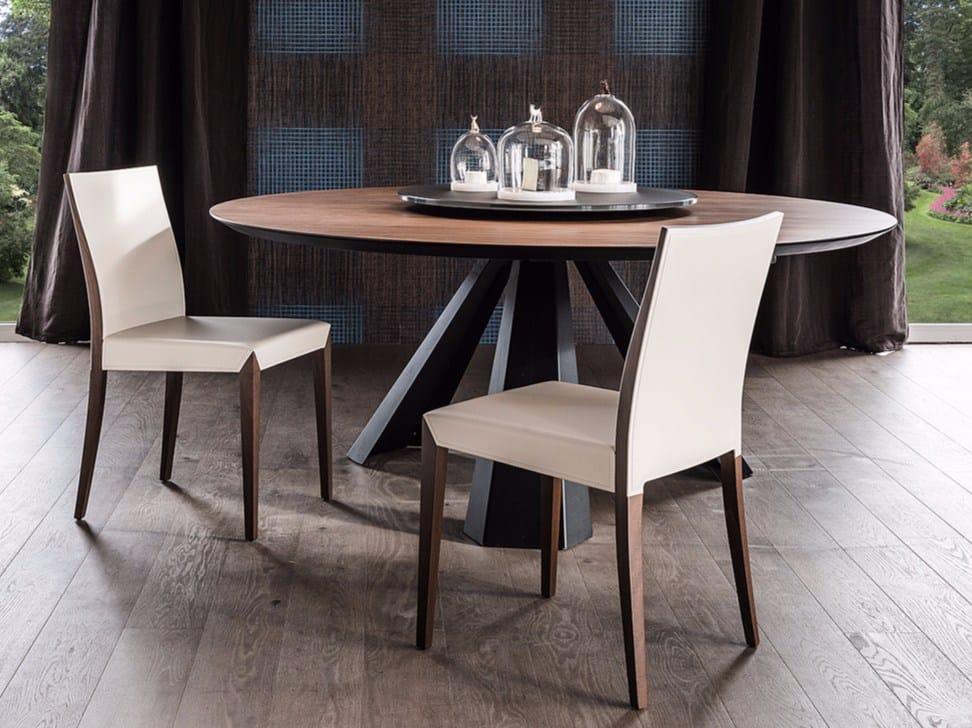 Sedia in cuoio brigitta by cattelan italia design paolo cattelan