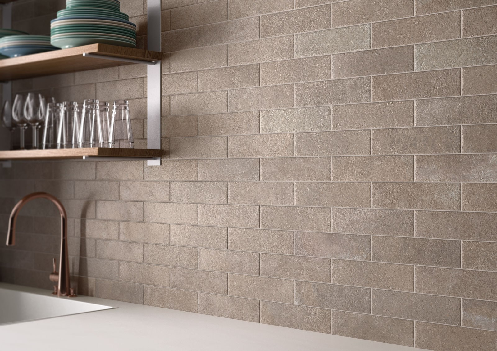brik moov moka by ceramiche keope. Black Bedroom Furniture Sets. Home Design Ideas