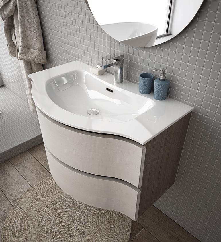 Mobile lavabo sospeso con cassetti broadway b1 by legnobagno - Lavabo sospeso con mobile ...