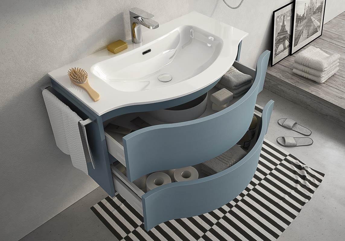Mobile Sottolavabo Bagno Sospeso : Mobile Bagno Harlem: Mobile lavabo ...