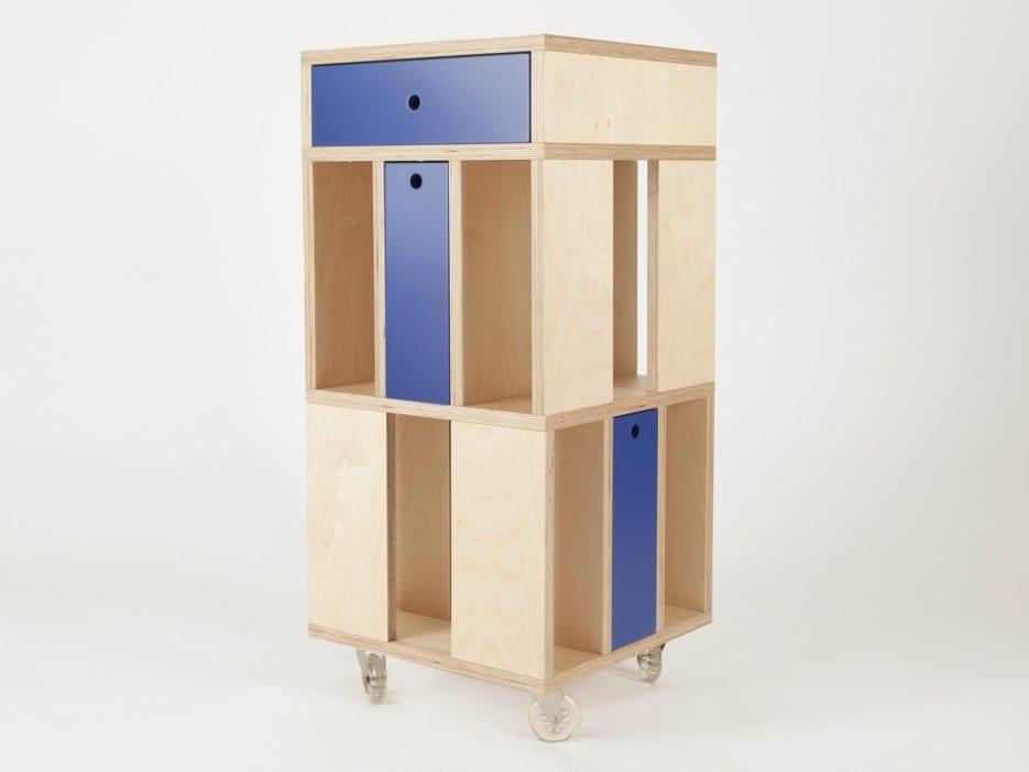 mobile contenitore con cassetti su ruote building 3m by malherbe edition design val rie windeck. Black Bedroom Furniture Sets. Home Design Ideas