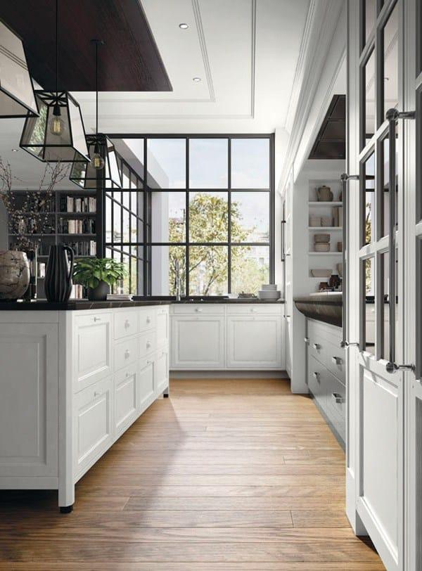 Cucina componibile in stile moderno con isola con maniglie bellagio by marchi cucine - Marchi cucine moderne ...