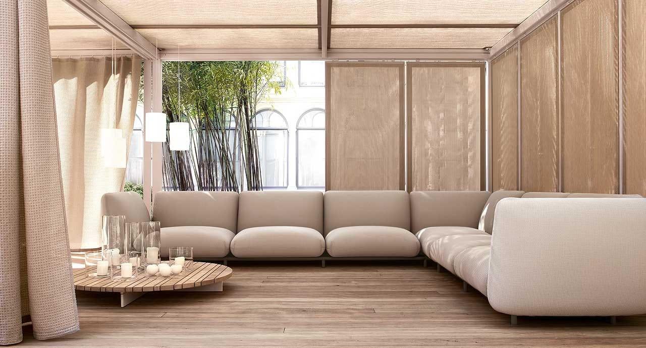 Gartenpavillon Aus Aluminium Und Holz Cabanne Modulo