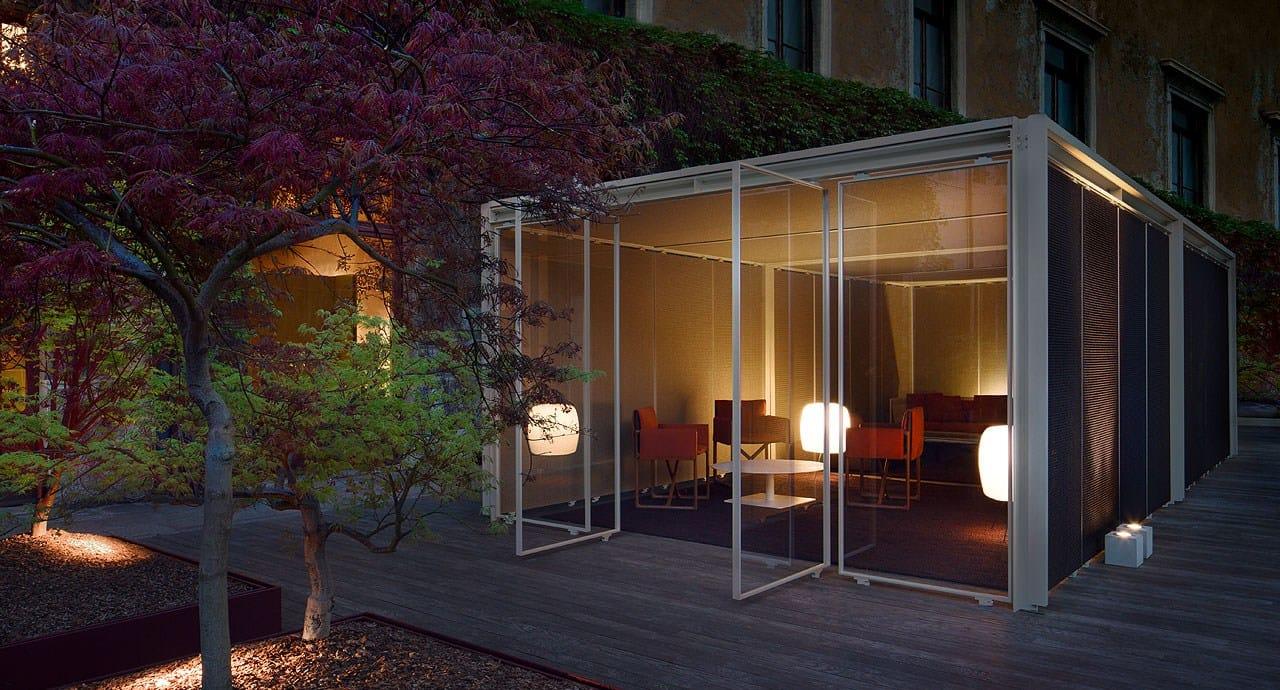 Gartenpavillon Aus Aluminium Und Holz Cabanne Modulo Quadro By ... Cabanne Gartenpavillon Paola Lenti Bestetti Associati