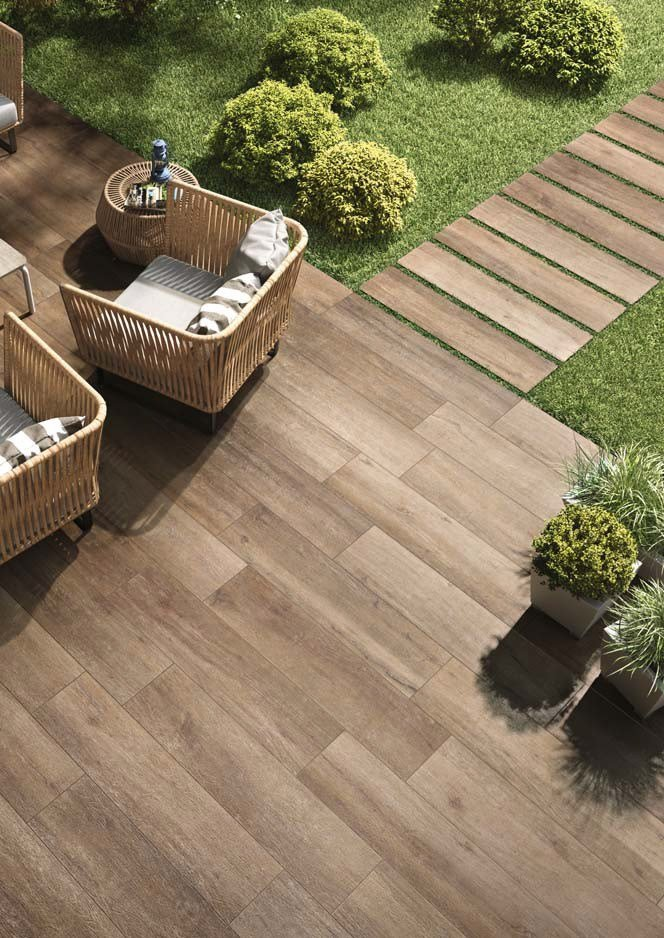 Indoor outdoor wall floor tiles with wood effect cadore by for Indoor outdoor wood flooring