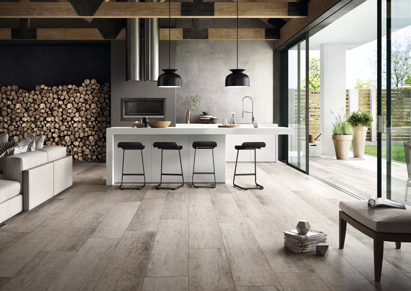 Indooroutdoor wallfloor tiles with wood effect cadore by cotto deste