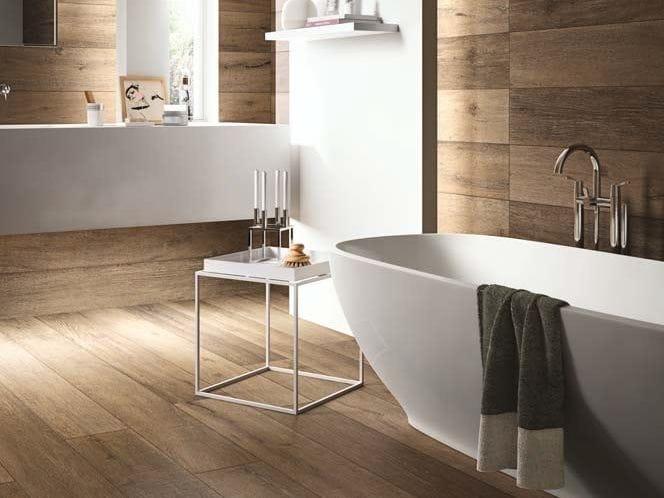 Pavimento rivestimento effetto legno per interni ed esterni cadore by cotto d 39 este - Rivestimento bagno effetto legno ...
