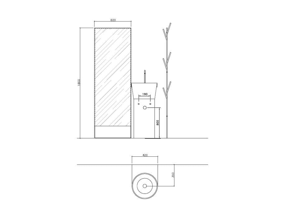 bathroom furniture set canestro - composition c06 by novello ... - Il Bagno Canestro Di Novello