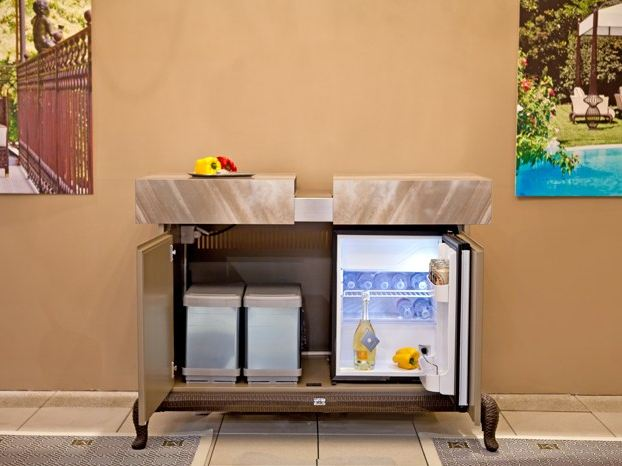 Canopo cucina da esterno con barbecue by samuele mazza - Cucina da esterno con barbecue ...