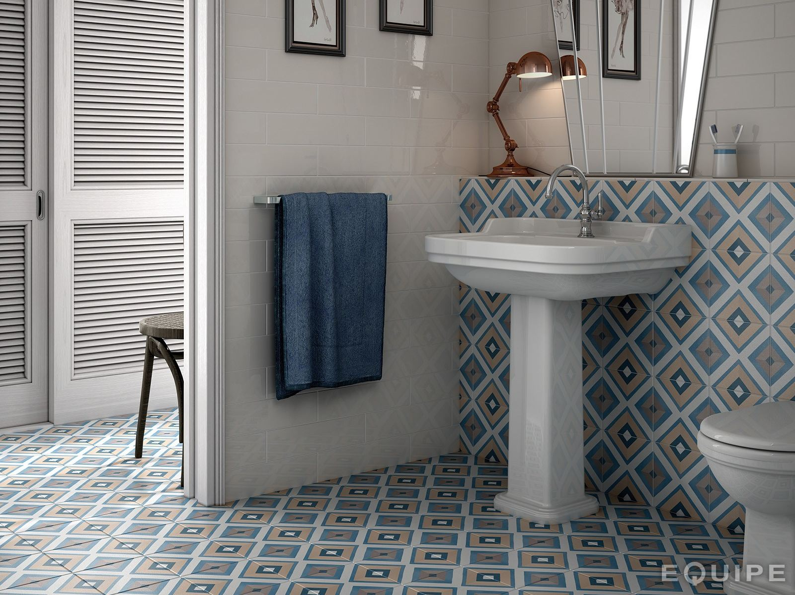 Pavimento rivestimento in ceramica caprice deco by equipe - Equipe ceramicas ...
