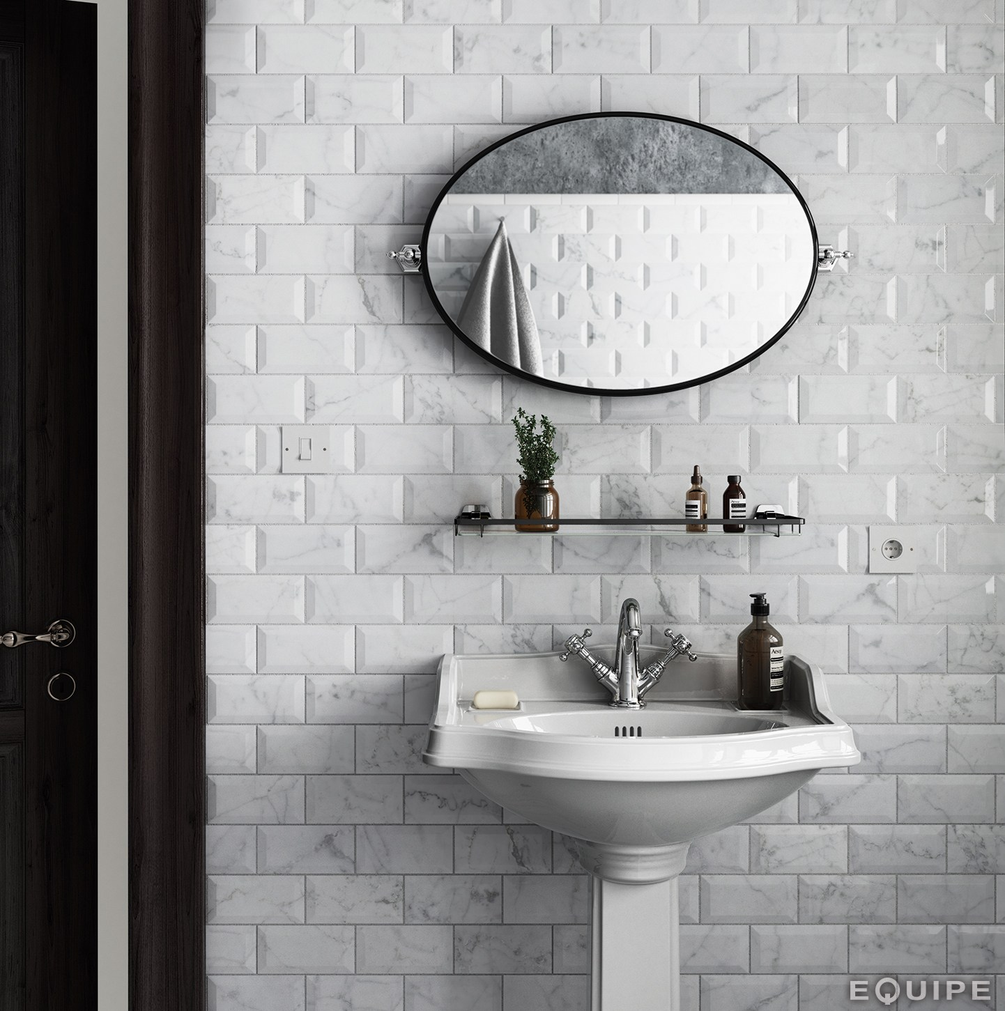 carrara rivestimento by equipe ceramicas. Black Bedroom Furniture Sets. Home Design Ideas