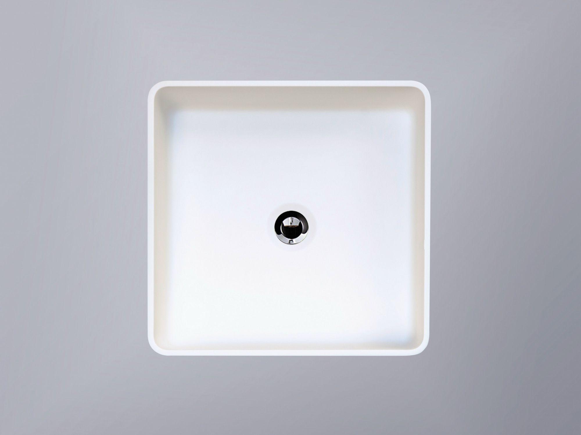 vasque poser carr en hi macs cb330s by hi macs by lg. Black Bedroom Furniture Sets. Home Design Ideas