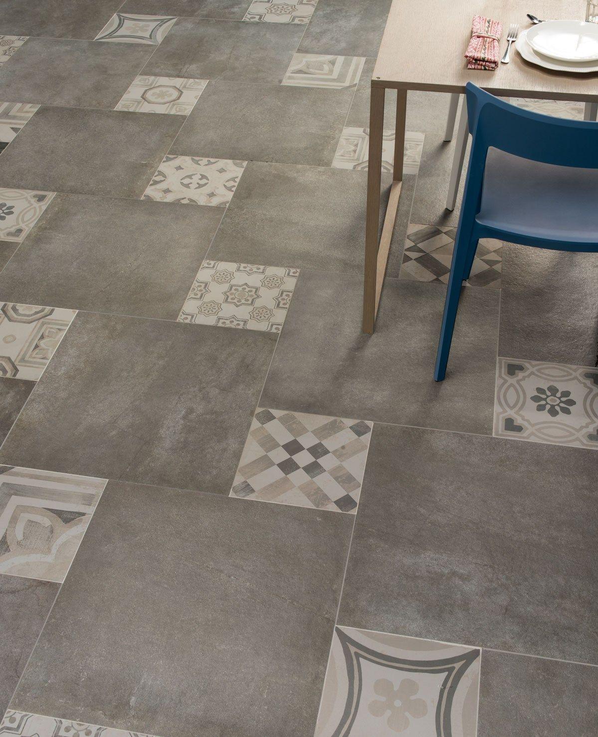 Pavimento in gres porcellanato CEMENTINE COLD by CERAMICHE KEOPE