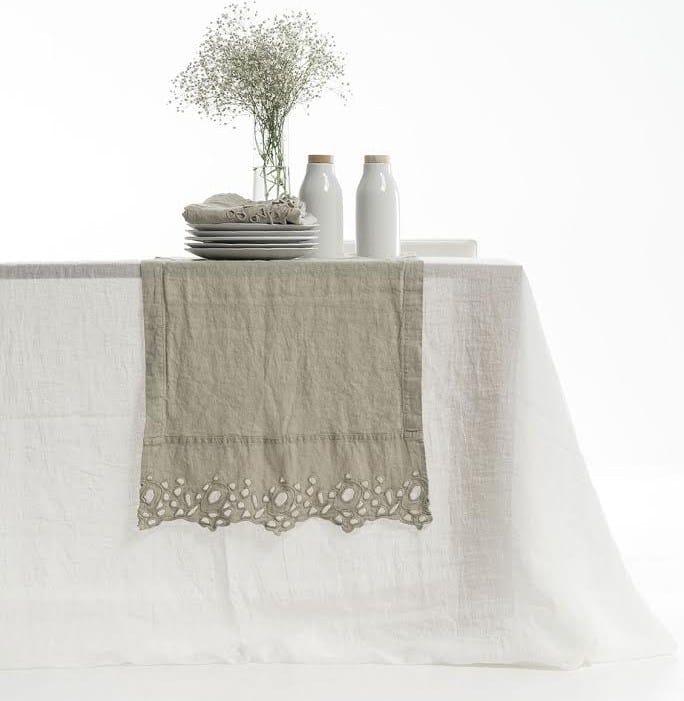 Tovaglietta rettangolare in lino cerchi tovaglietta - La fabbrica del lino letto ...
