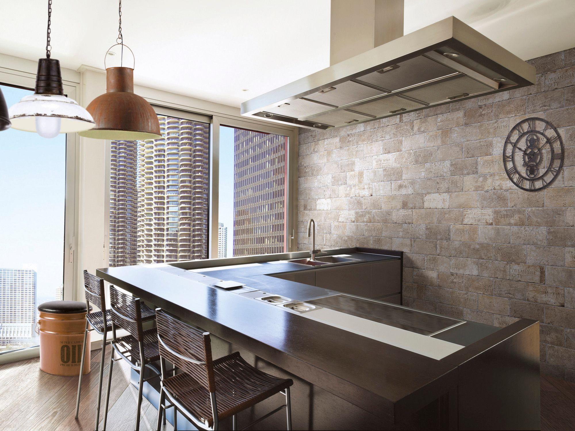 carrelage cuisine effet brique. Black Bedroom Furniture Sets. Home Design Ideas