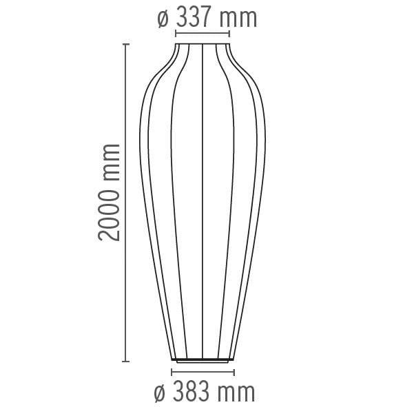 lampadaire en r sine cocoon chrysalis by flos design marcel wanders. Black Bedroom Furniture Sets. Home Design Ideas