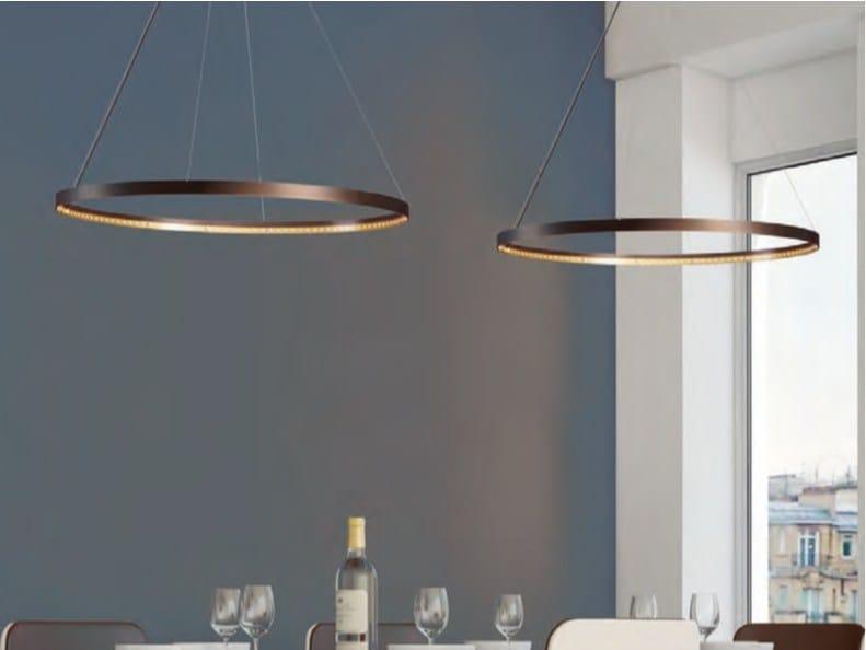 led direct indirect light adjustable steel pendant lamp circle 80 by le deun luminaires. Black Bedroom Furniture Sets. Home Design Ideas