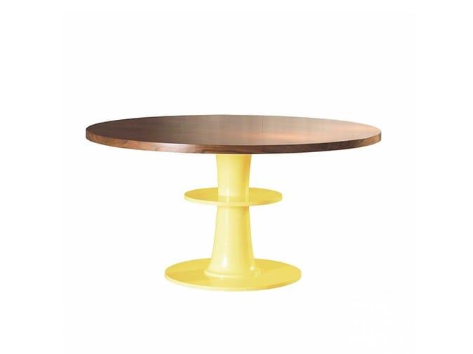 Mesa redonda de comedor de madera circule by mambo unlimited ideas ...