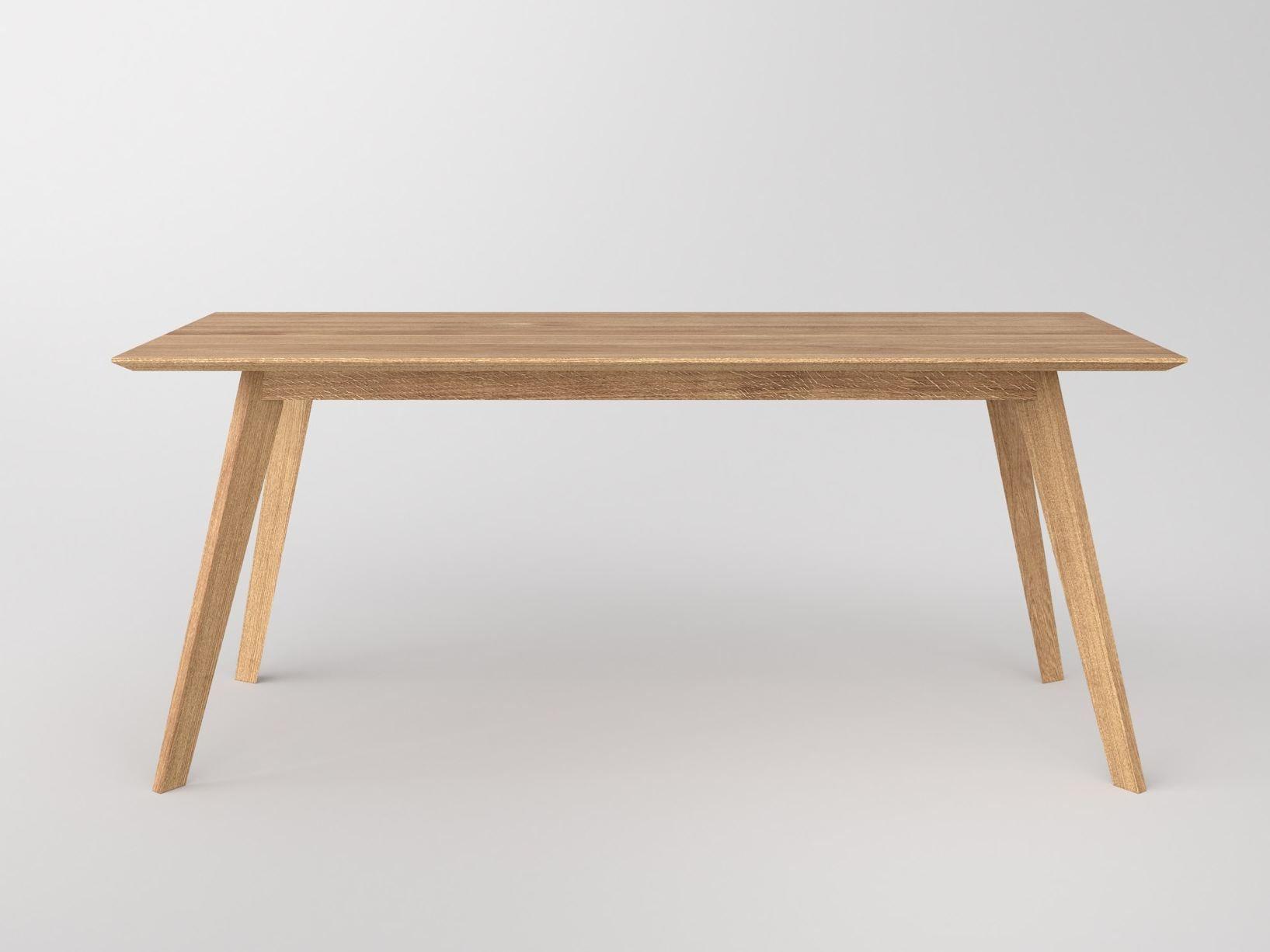 Tavolo rettangolare in legno massello citius by vitamin design for Tavolo rettangolare design