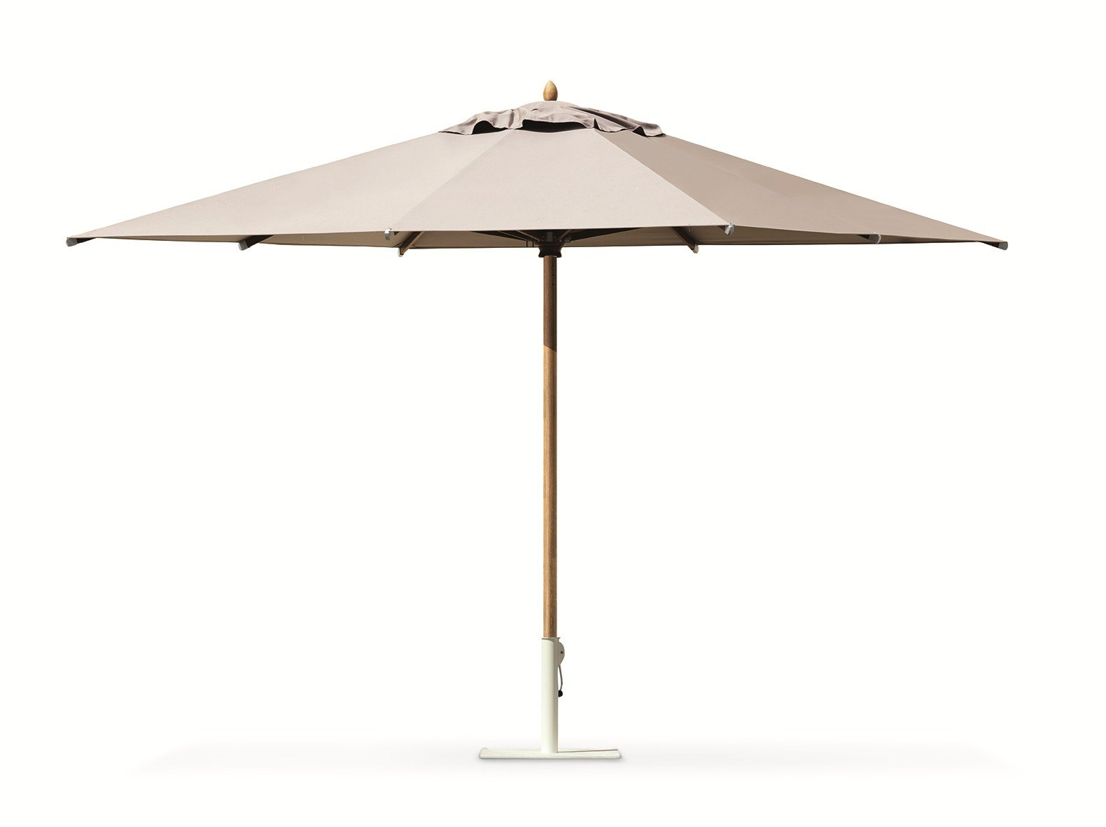 classic  square garden umbrella by ethimo -