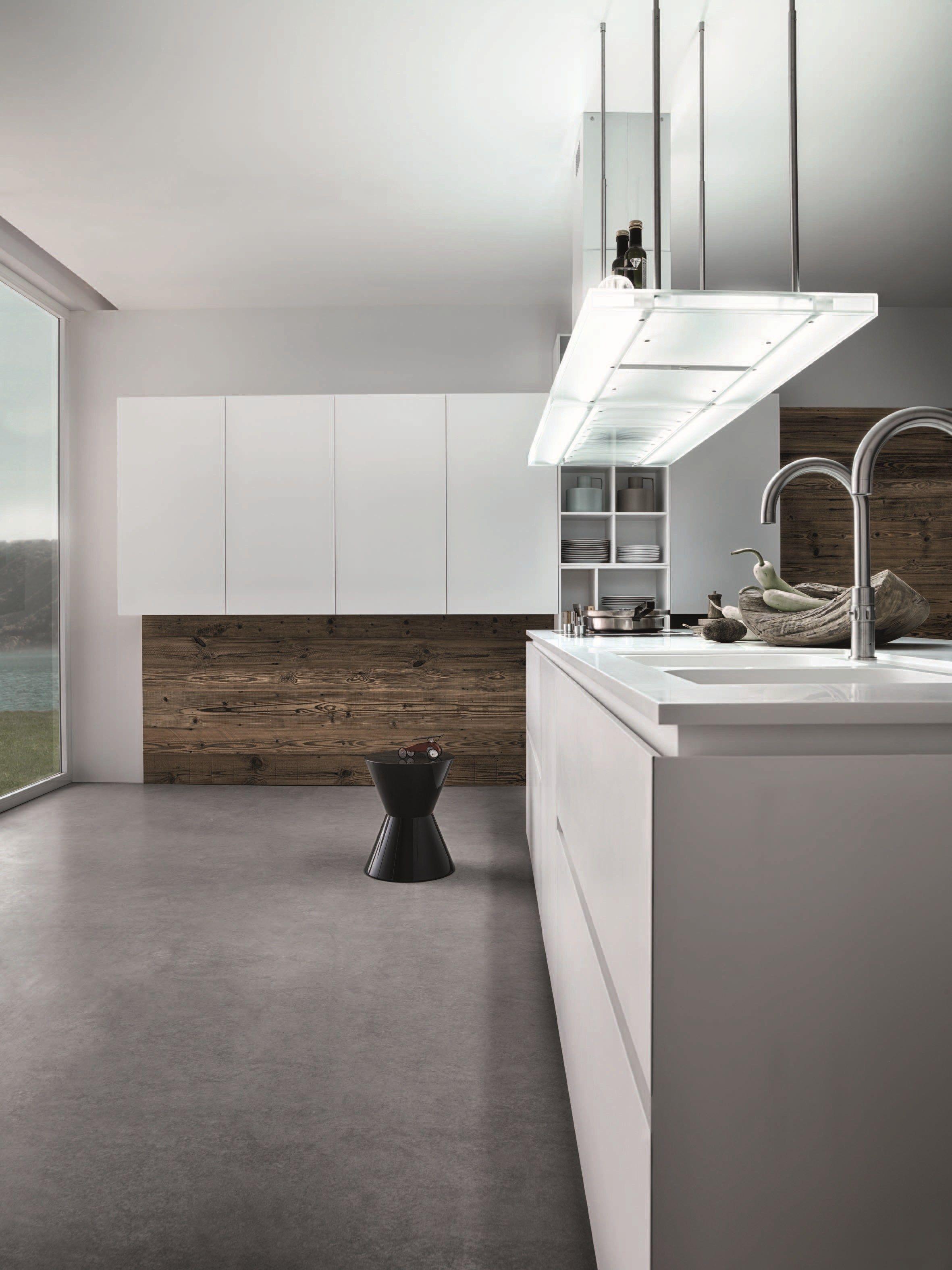 Lackierte küche mit kücheninsel ohne griffe cloe   composition 1 ...