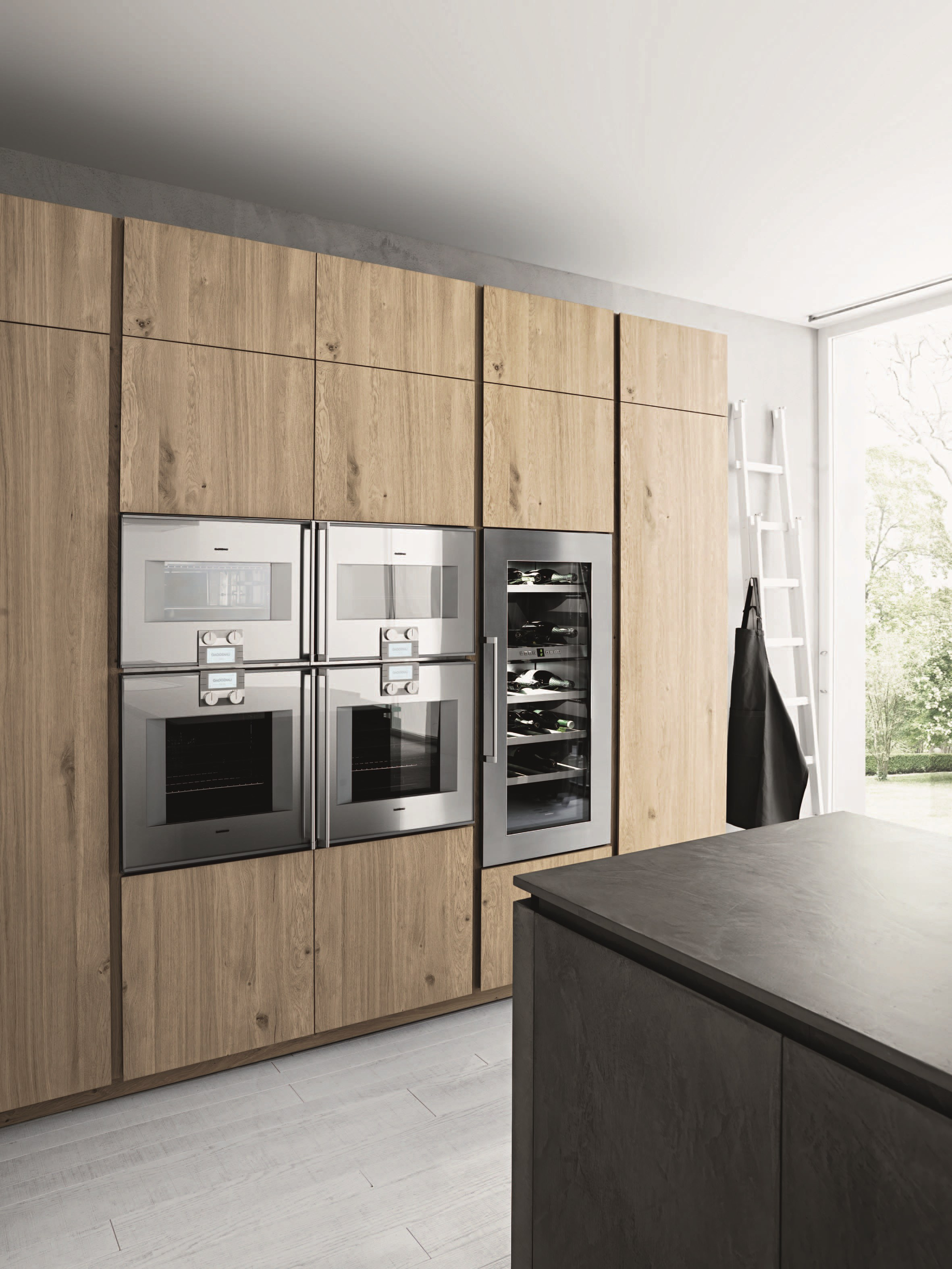 Einbauküche mit kücheninsel ohne griffe cloe composition 2 by cesar arredamenti design gian vittorio plazzogna