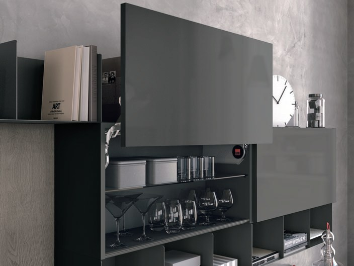 Cucina componibile lineare CLOVER 03 By Cucine Lube