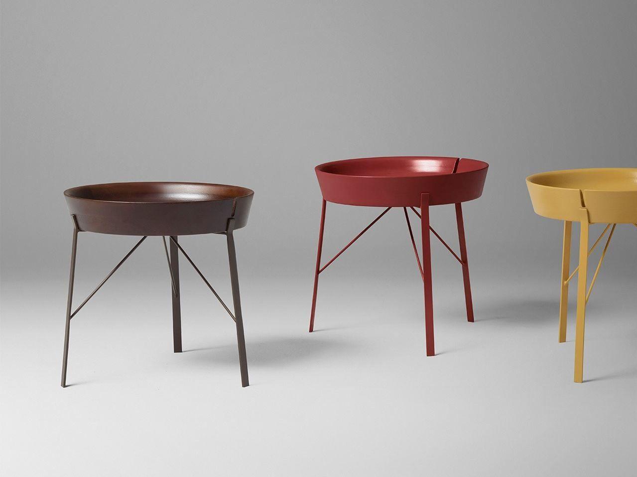table basse ronde en bois avec plateau cocoon by alivar. Black Bedroom Furniture Sets. Home Design Ideas