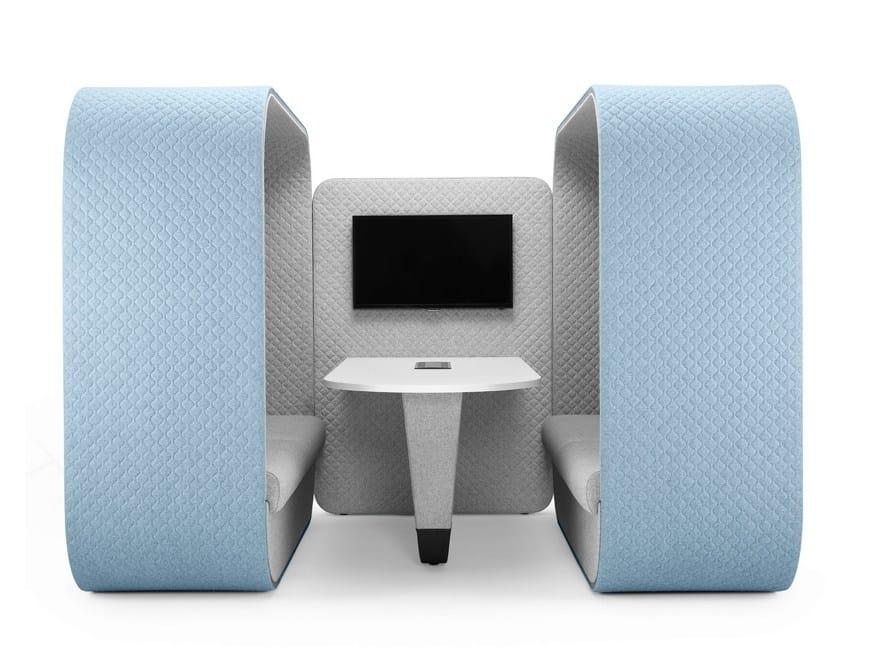 Cocoon media unit cabine de bureau by boss design for Bureau cocooning