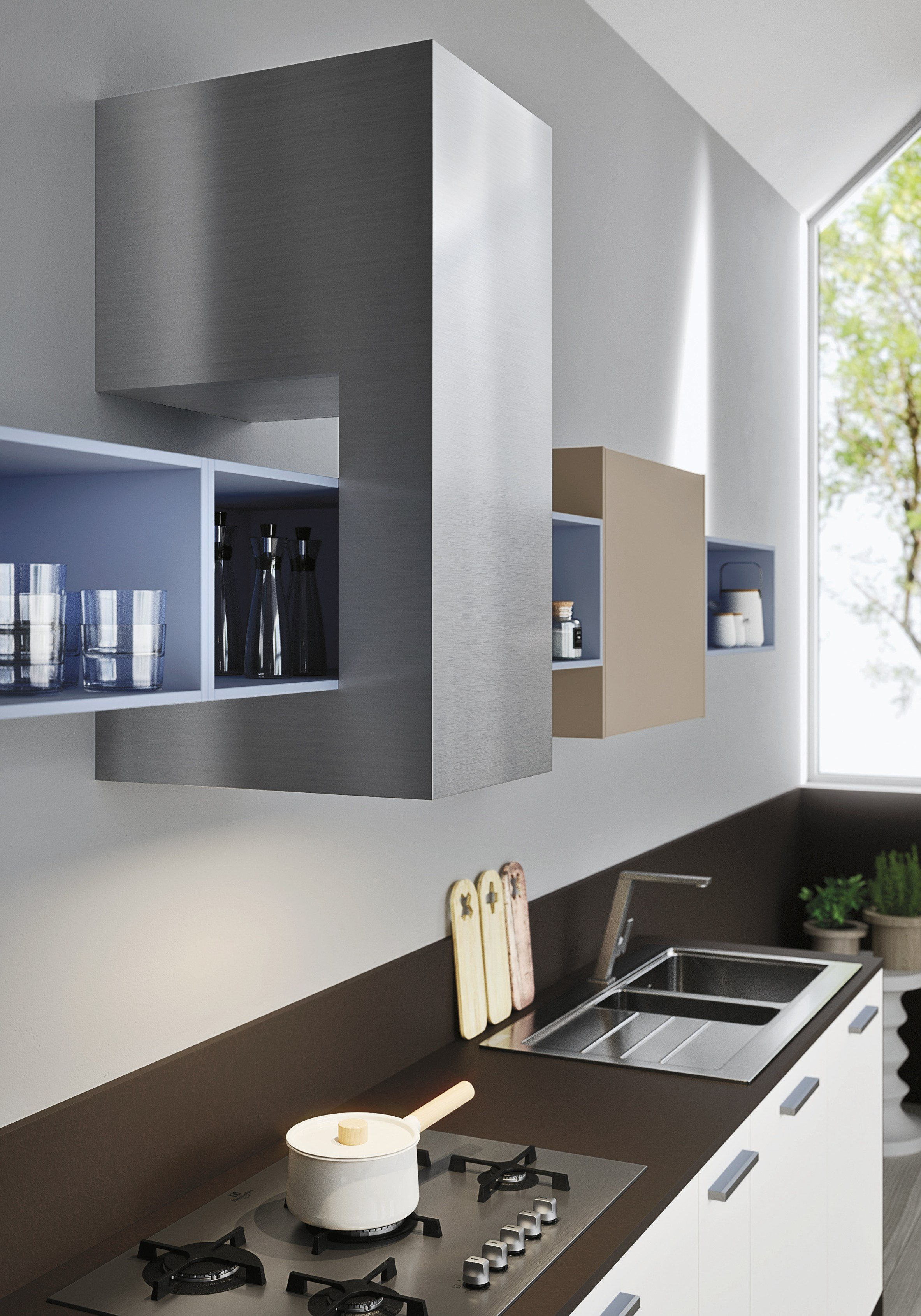 Code Kitchen With Peninsula Sistema Collection By Snaidero Design Michele Marcon