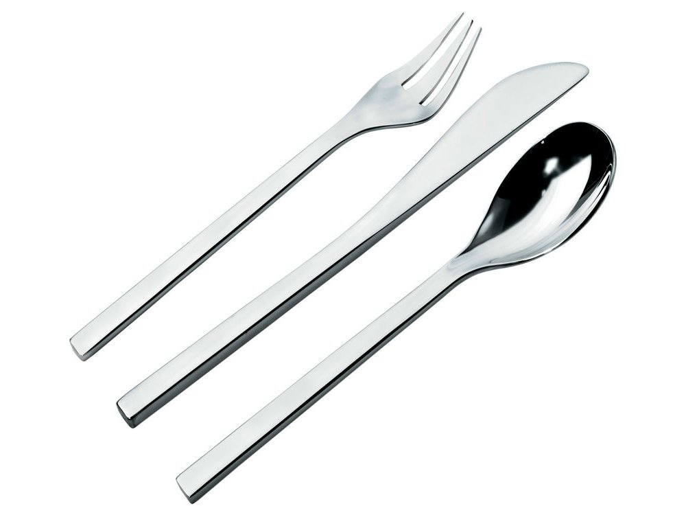 Fm06s24 cutlery set by alessi design massimiliano fuksas for Posate alessi