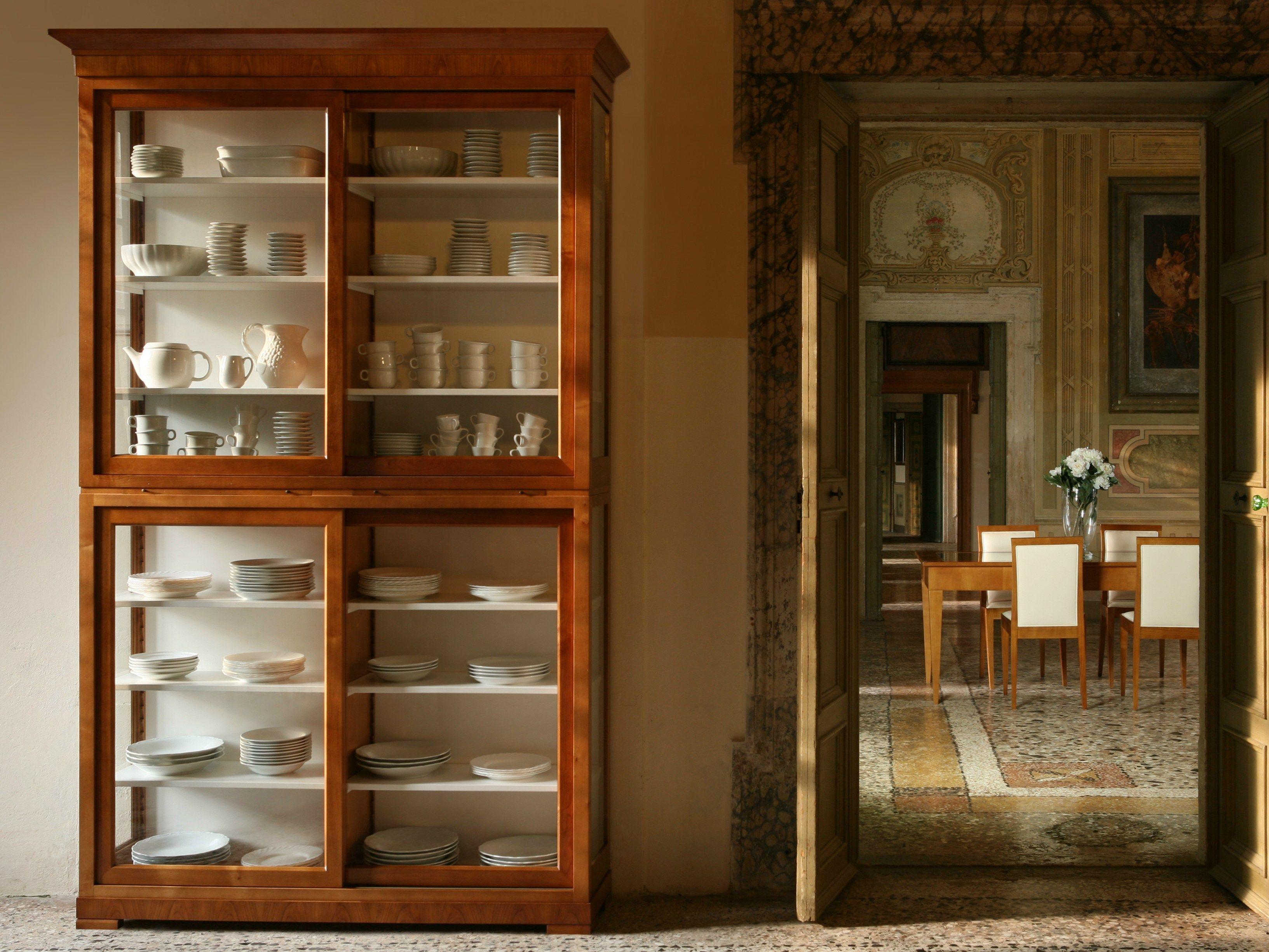 Modulo biedermeier libreria in legno by morelato design centro ricerche maam - Mobili biedermeier ...