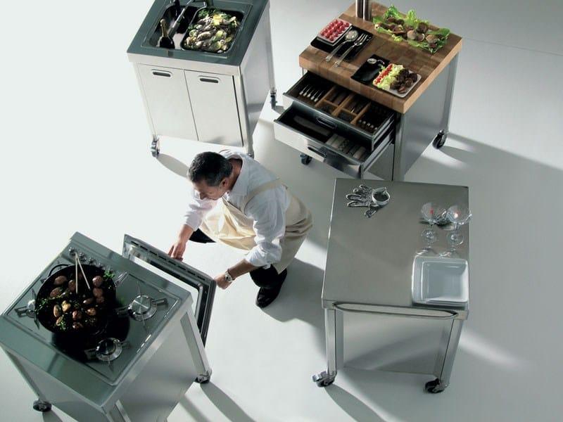 COMPOSIZIONE CUCINA 70 Modulo cucina su ruote by ALPES-INOX