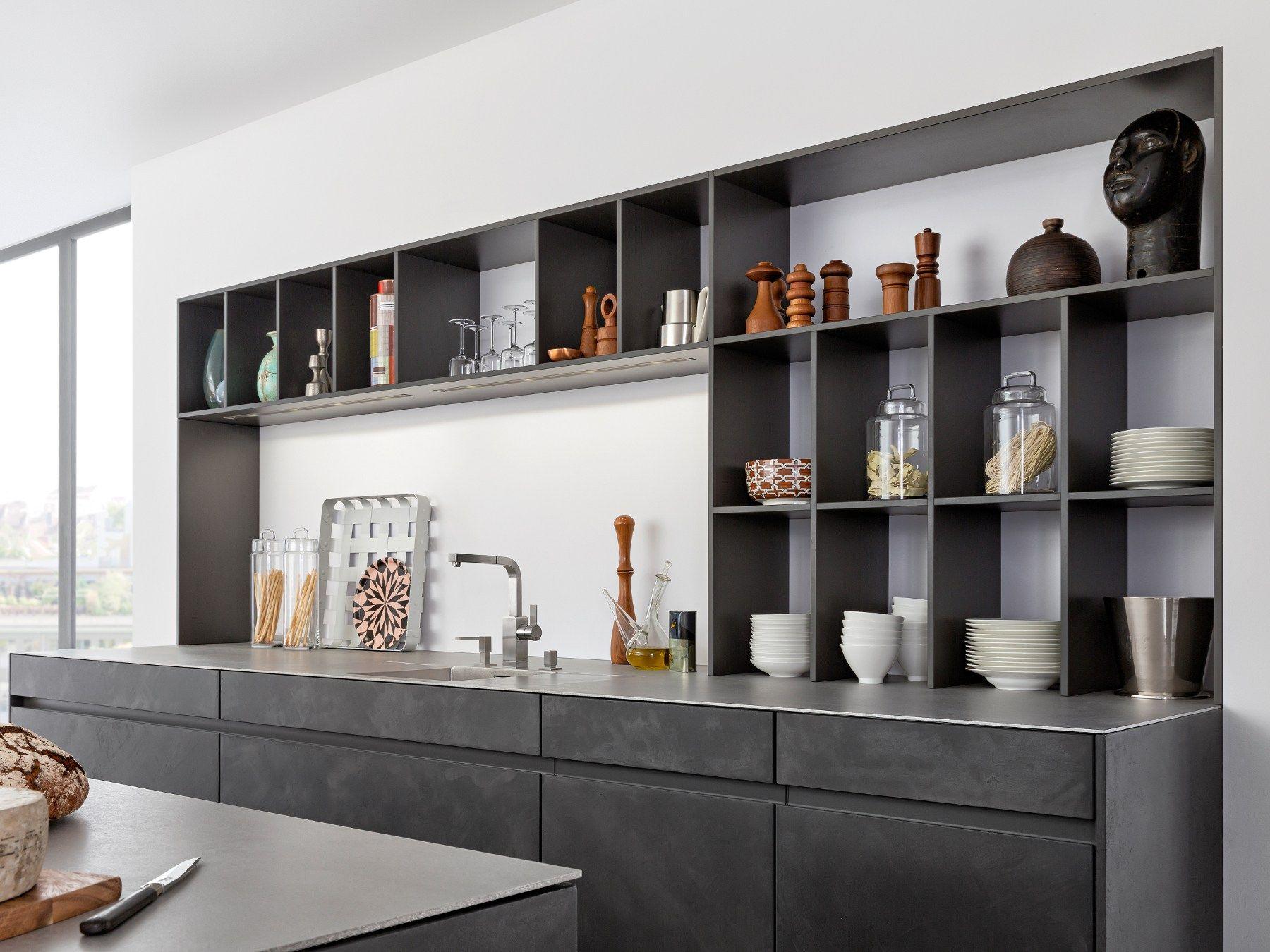 Küche mit kücheninsel concrete a by leicht küchen