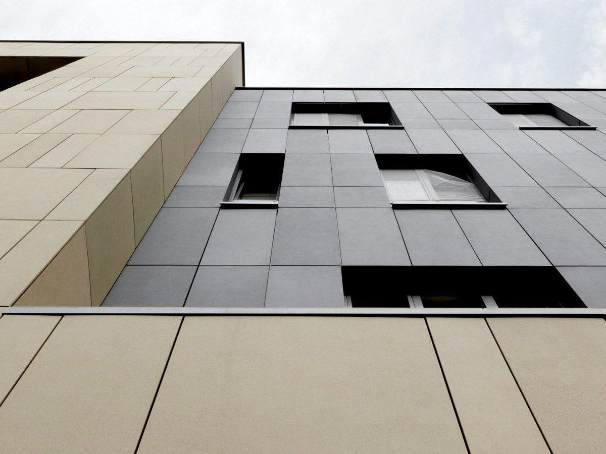 Fiber Reinforced Concrete Panels : Concrete skin panel for facade by rieder