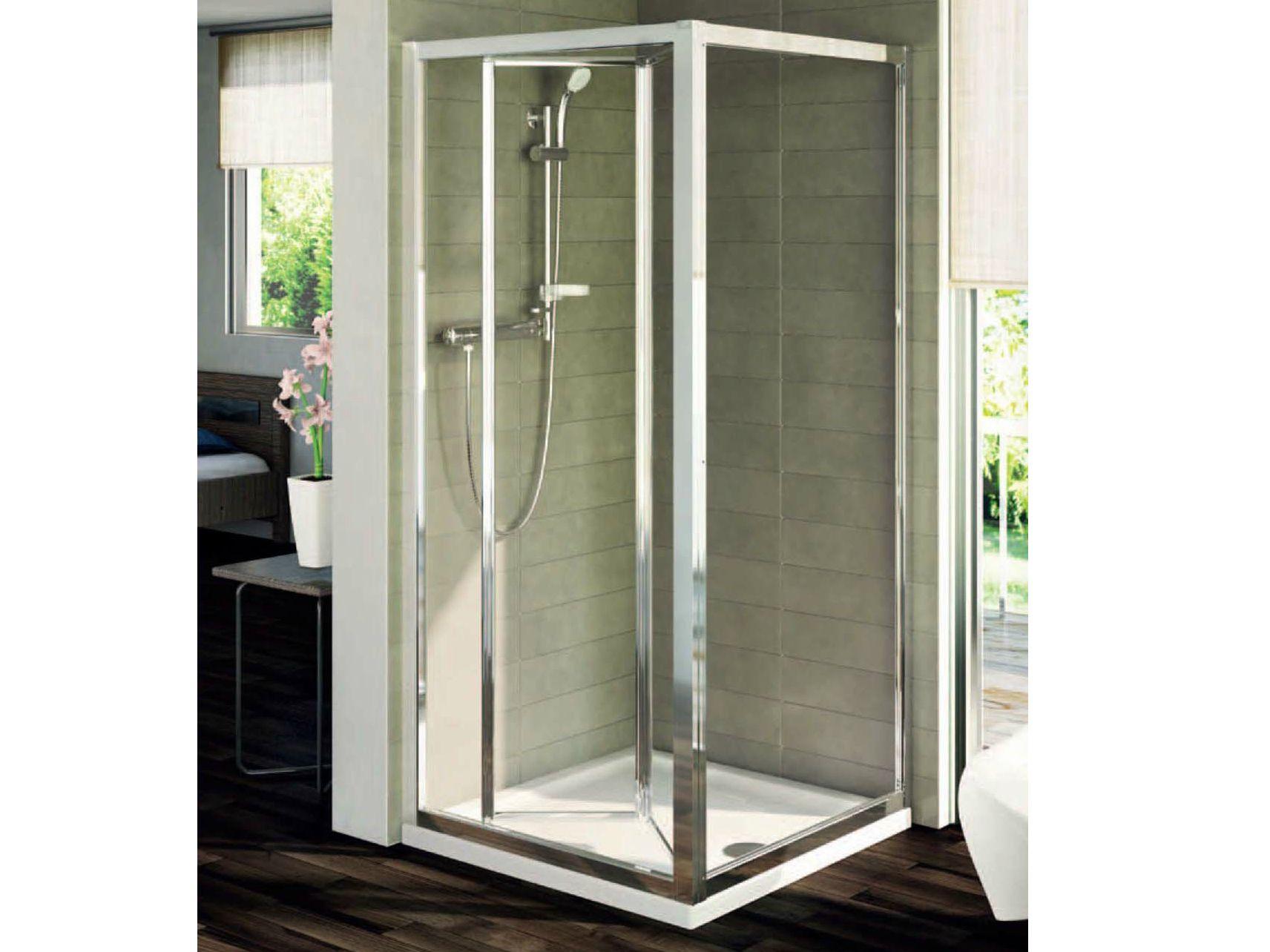 Box doccia in vetro temperato con porte a soffietto - Montare una porta a soffietto ...