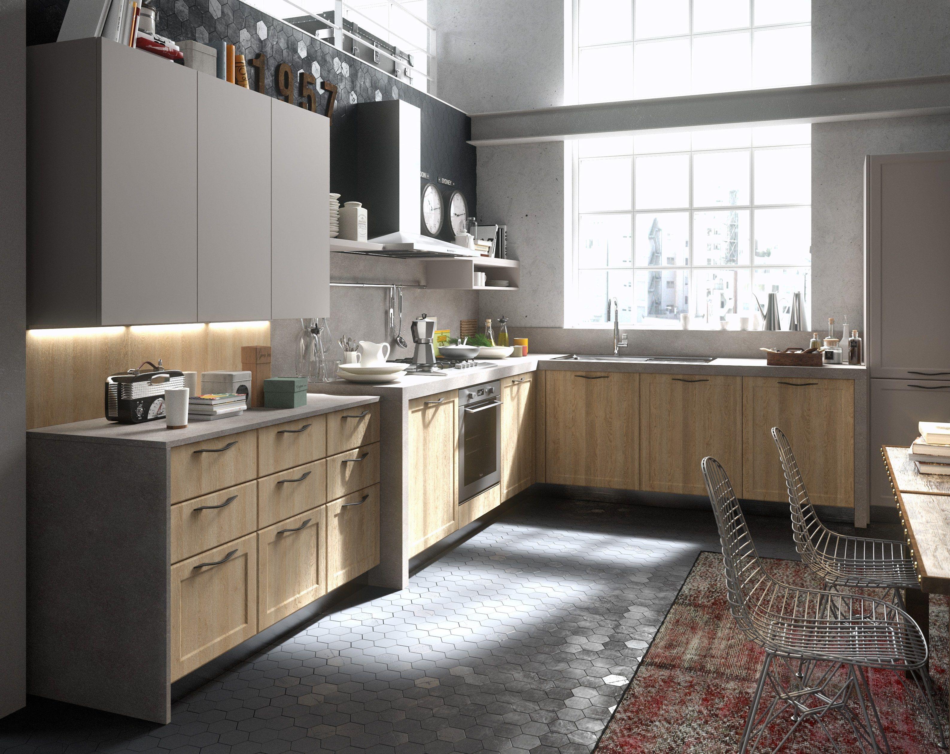 Cucina componibile con maniglie integrate contempo abaco by snaidero by snaidero design snaidero - Mobili snaidero majano ...