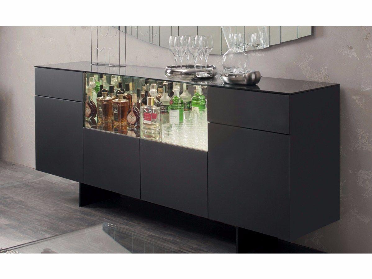 Madia in vetro acidato con ante a battente continental by cattelan italia design paolo cattelan - Mobile bar da appartamento ...