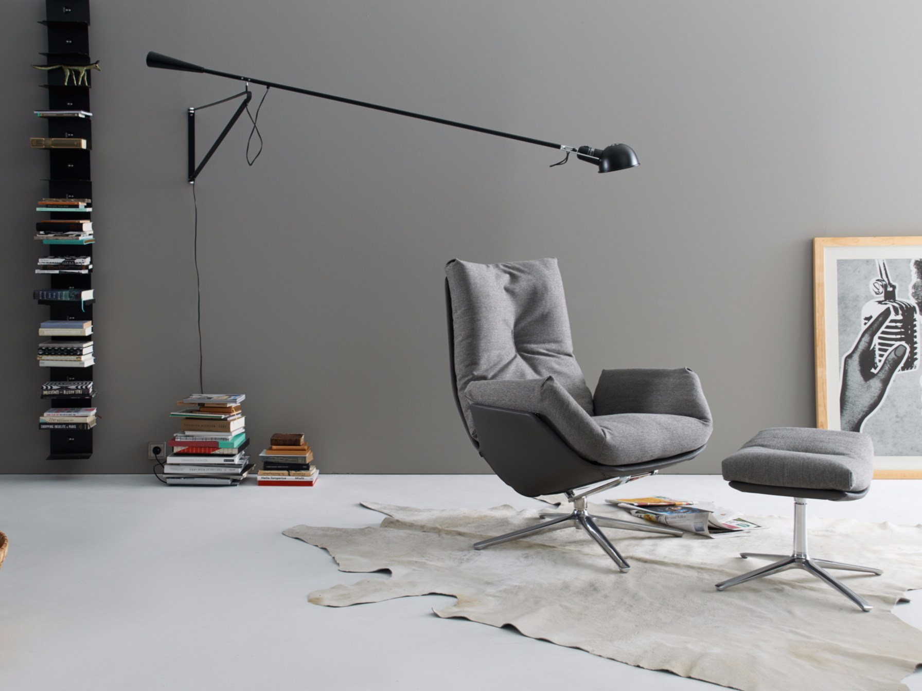 Designer Sessel Mit Fußschemel : Sessel aus stoff mit fu?schemel cordia lounge by cor