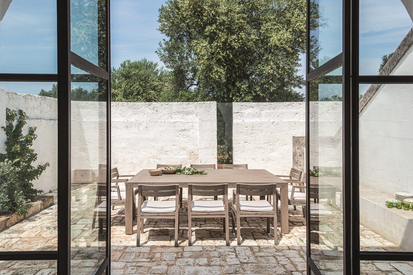 Costes tavolo rettangolare xl by ethimo for Giardino rettangolare