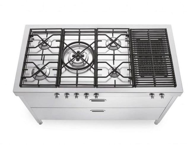 Modulo cucina in acciaio inox con piano cottura cottura - Piano cucina acciaio inox ...