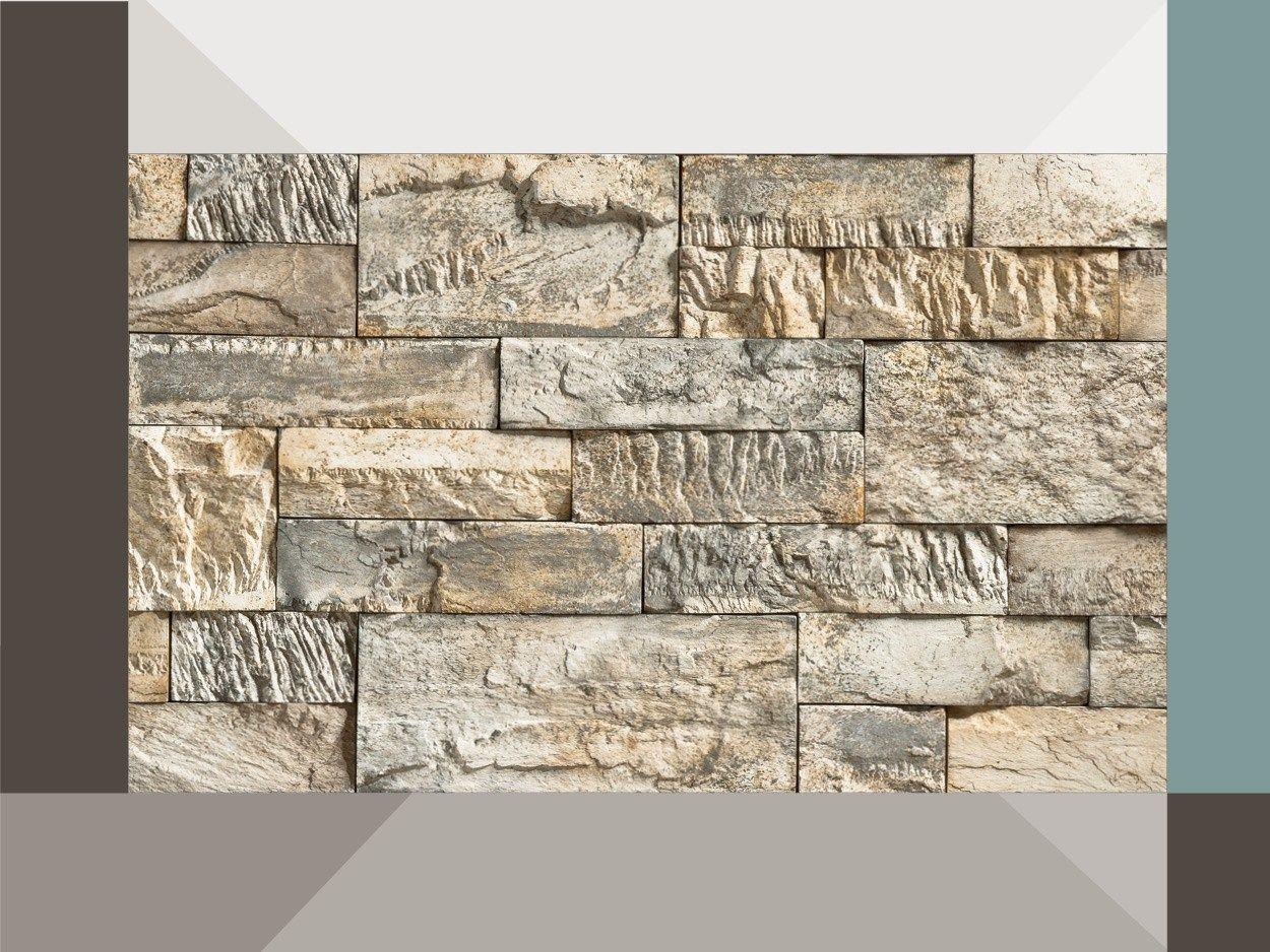 Revestimiento de fachada piedra artificial creativo p34 by for Revestimiento pared piedra artificial