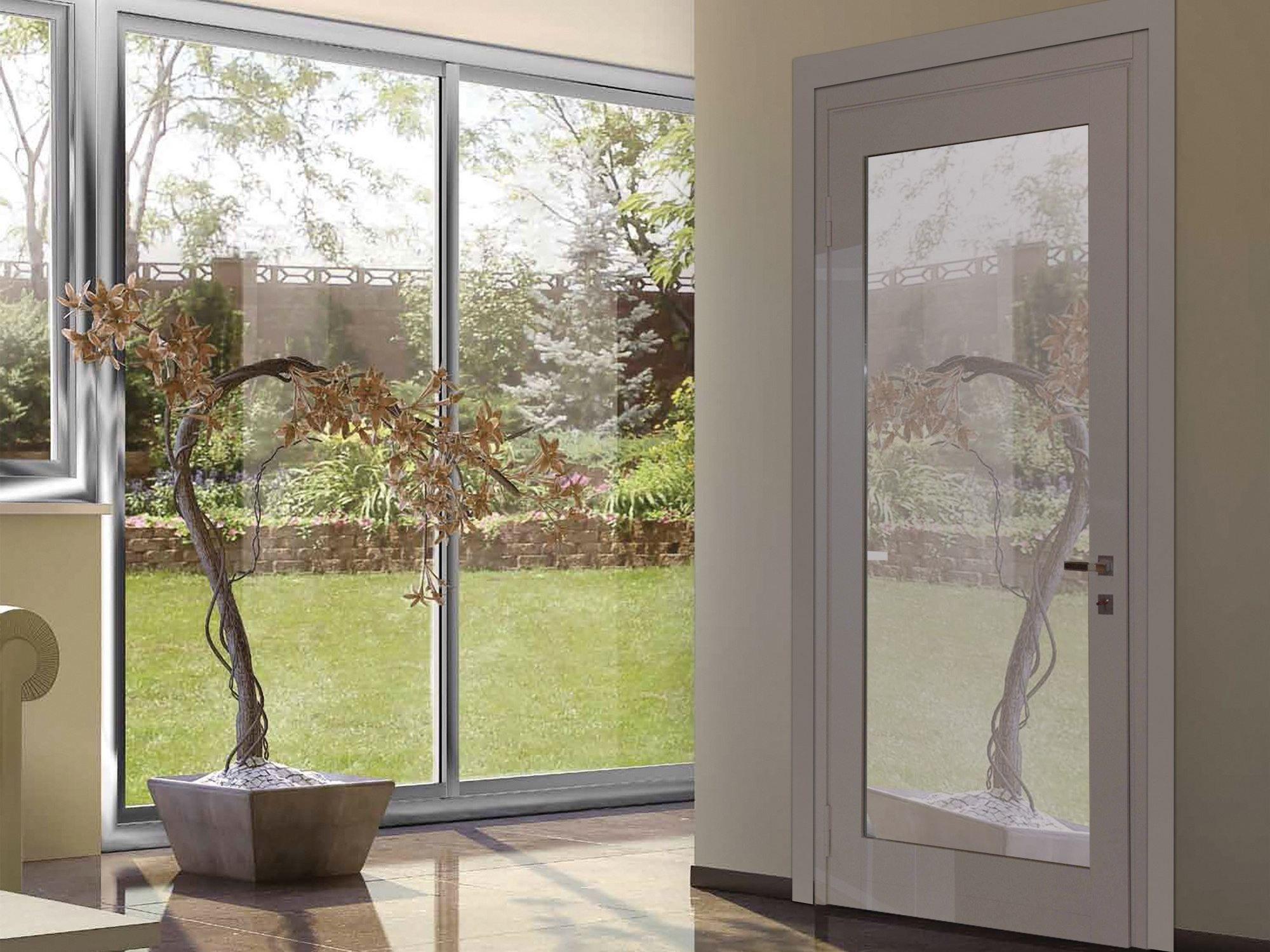 Porta d 39 ingresso acustica blindata in acciaio e vetro - Porte ingresso vetro ...