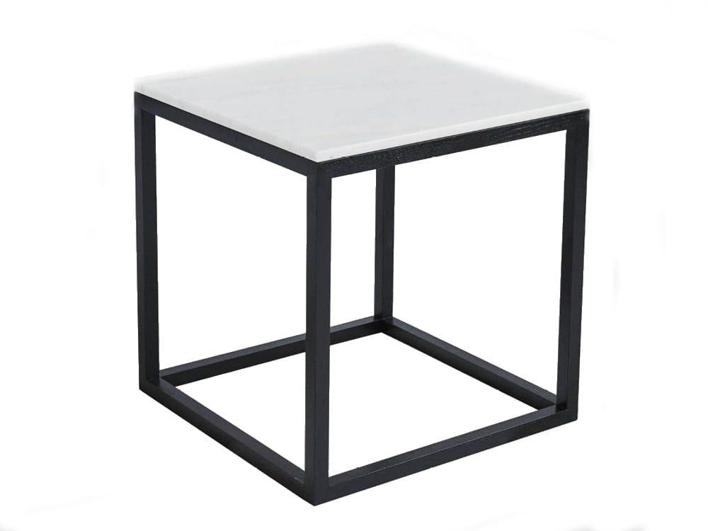 table basse table de nuit en ch ne cube table black oak marble by kristina dam studio. Black Bedroom Furniture Sets. Home Design Ideas