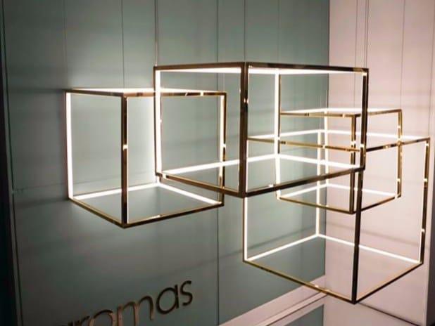 lampada a sospensione a led in metallo cube x by aromas del campo design ac studio. Black Bedroom Furniture Sets. Home Design Ideas