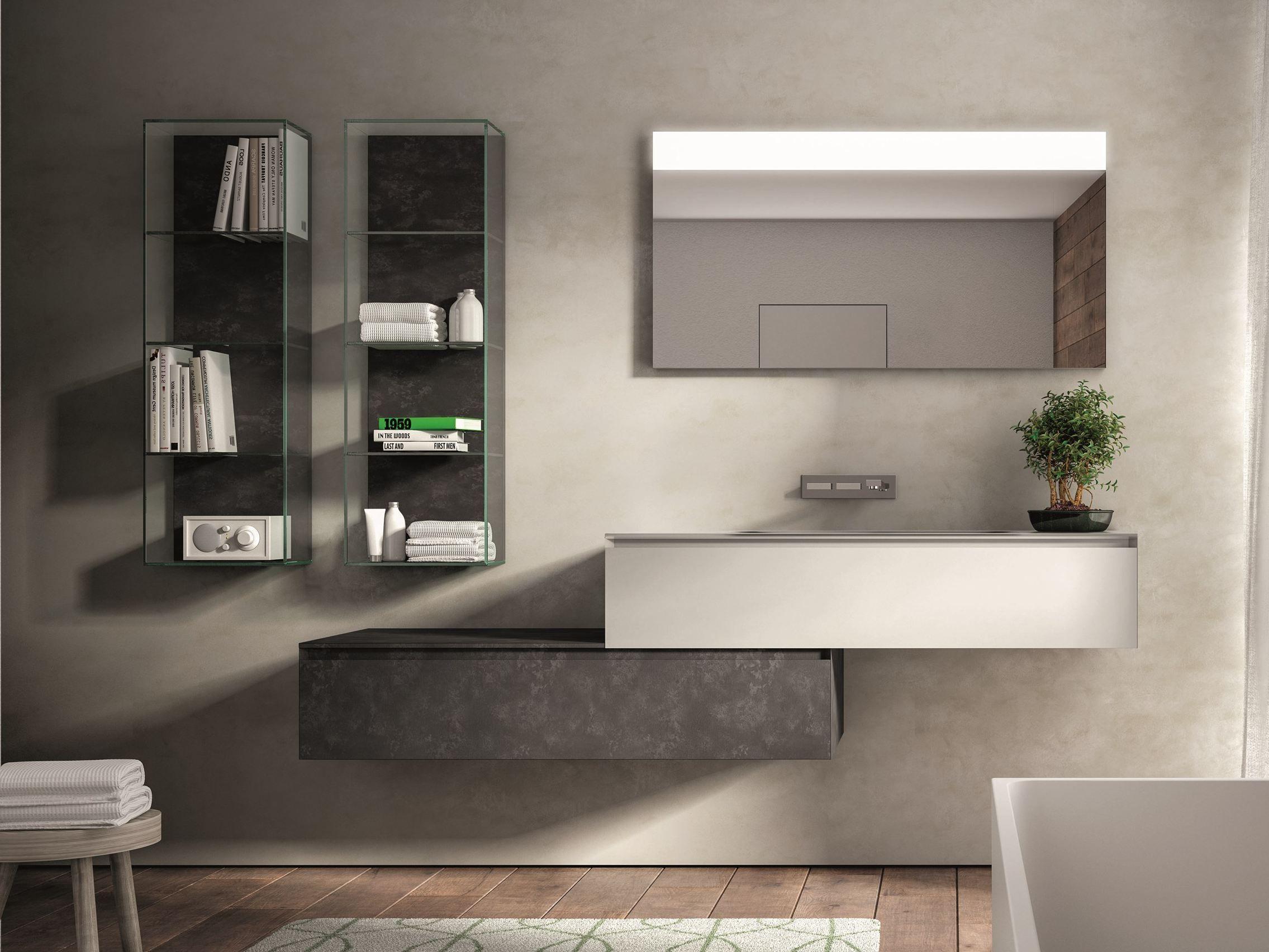 Arredo bagno completo in legno cubik n 11 by ideagroup - Idea mobili bagno ...