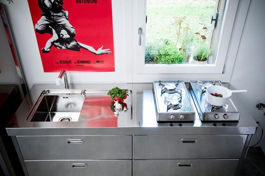 Cuisine lin aire en acier inoxydable cucina 190 blow up by alpes inox - Liberi in cucina ...