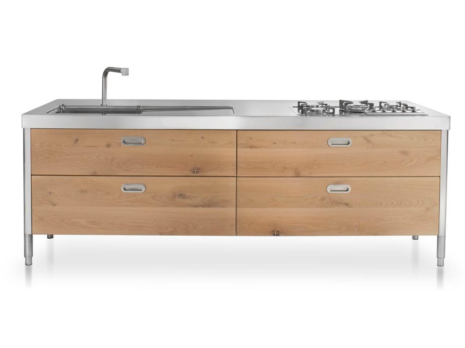 Cucine e contenimento 250 cucina in acciaio inox by alpes inox - Cucine alpes inox prezzi ...